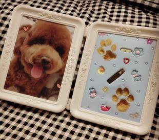网红狗狗生日礼物猫咪保存爪印留念爪印印爪印泥宠物纪念品赠照片
