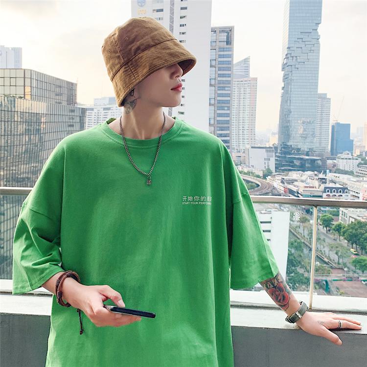 新款纯色短袖T恤 潮流男装港风夏装 韩版上衣T16/特P28 七色现货