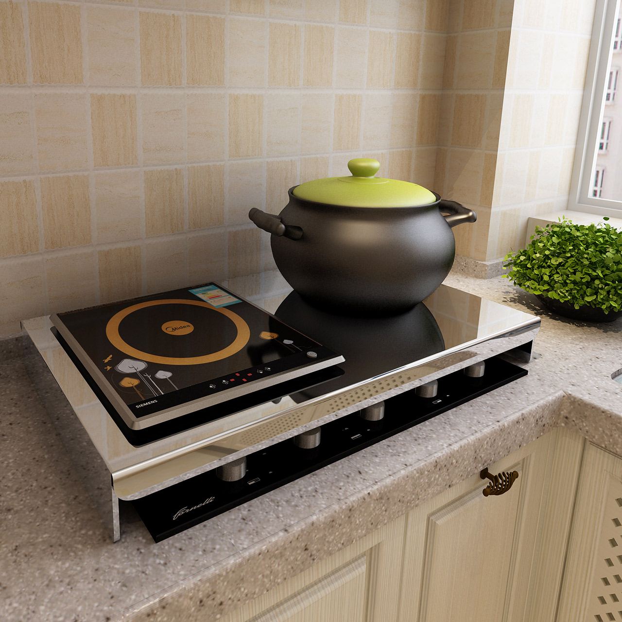 厨房置物架不锈钢电磁炉支架底座天然气煤气灶燃气灶盖板灶台架子,可领取10元天猫优惠券