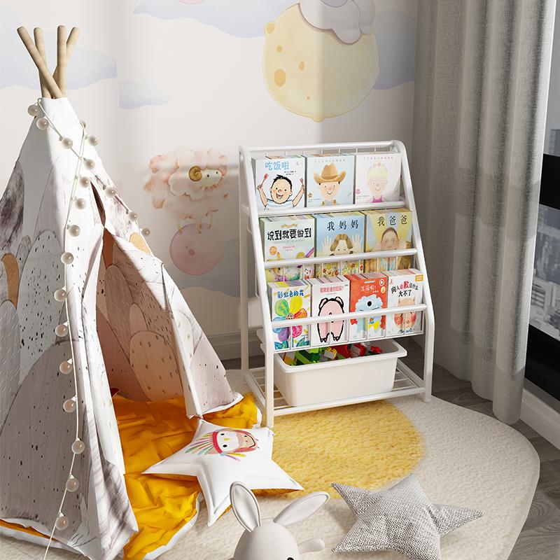 儿童书架绘本架图书玩具收纳储物柜用后反馈
