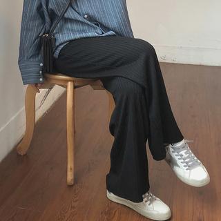 阔腿裤女春秋大码200斤胖妹妹高腰直筒宽松显瘦坠感拖地休闲长裤