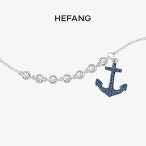 hefang何方珠宝船锚925纯银脚链