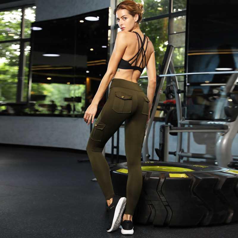 新款高腰大码紧身高弹力提臀瑜伽裤速干休闲跑步运动女裤包邮退换