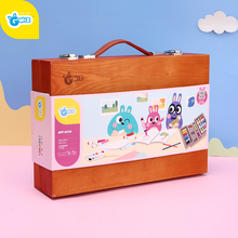 Gwiz children's painting tool set student art supplies gift box paintbrush kindergarten boys and girls gift toys