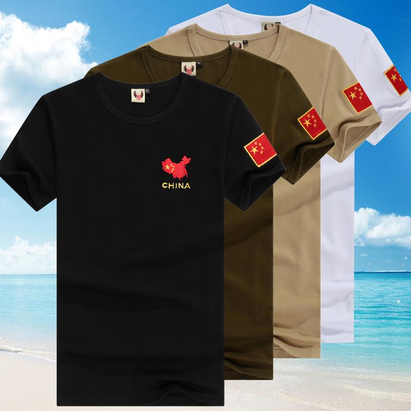 夏季户外军迷短袖圆领棉质紧身t恤