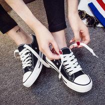 2020新款小白帆布女鞋2019黑色板鞋韩版春季百搭潮鞋学生休闲布鞋