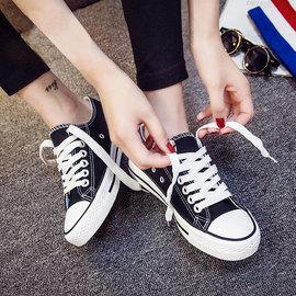 2020新款小白帆布女鞋球鞋板鞋ulzzang韩版春季百搭夏季休闲布鞋图片