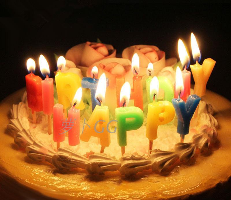 情景蛋糕装饰生日用品 happy birthday 生日快乐英文字母工艺蜡烛