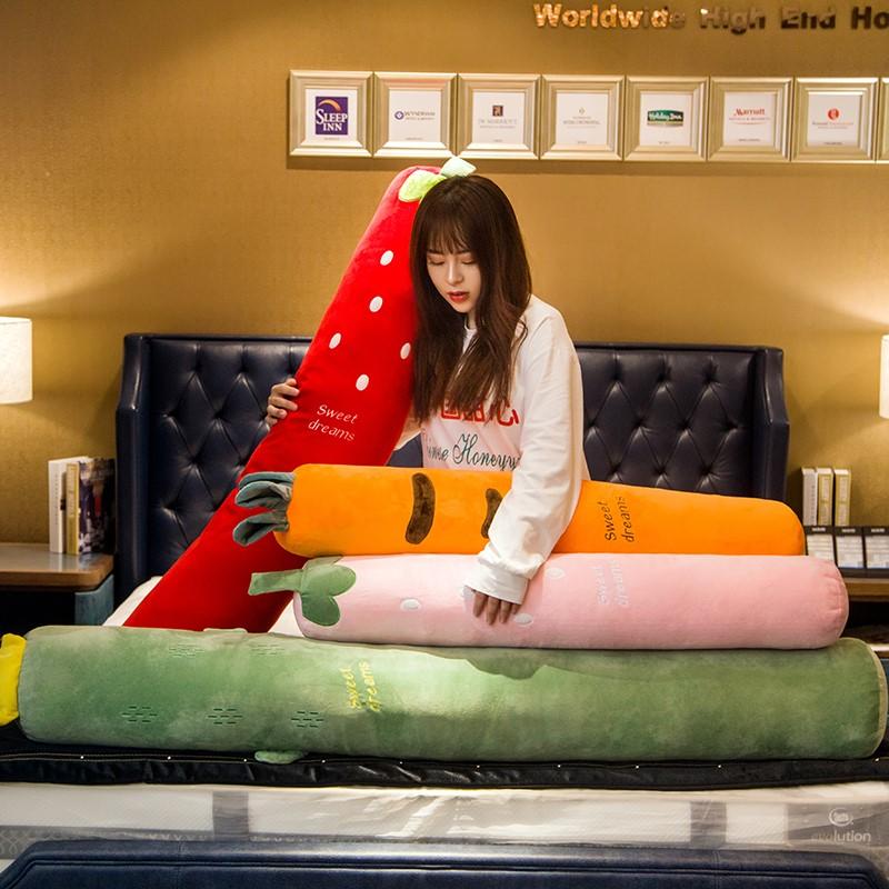 水果睡觉长条抱枕公仔毛绒玩具男朋友陪睡孕妇夹腿枕头送女生礼物