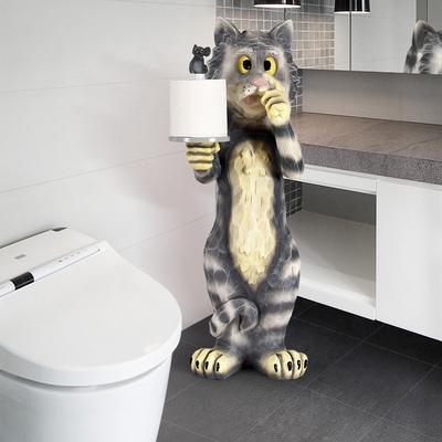 Toilet tissue box free punch creative cute Nordic living room bedroom household toilet roll paper floor tissue holder