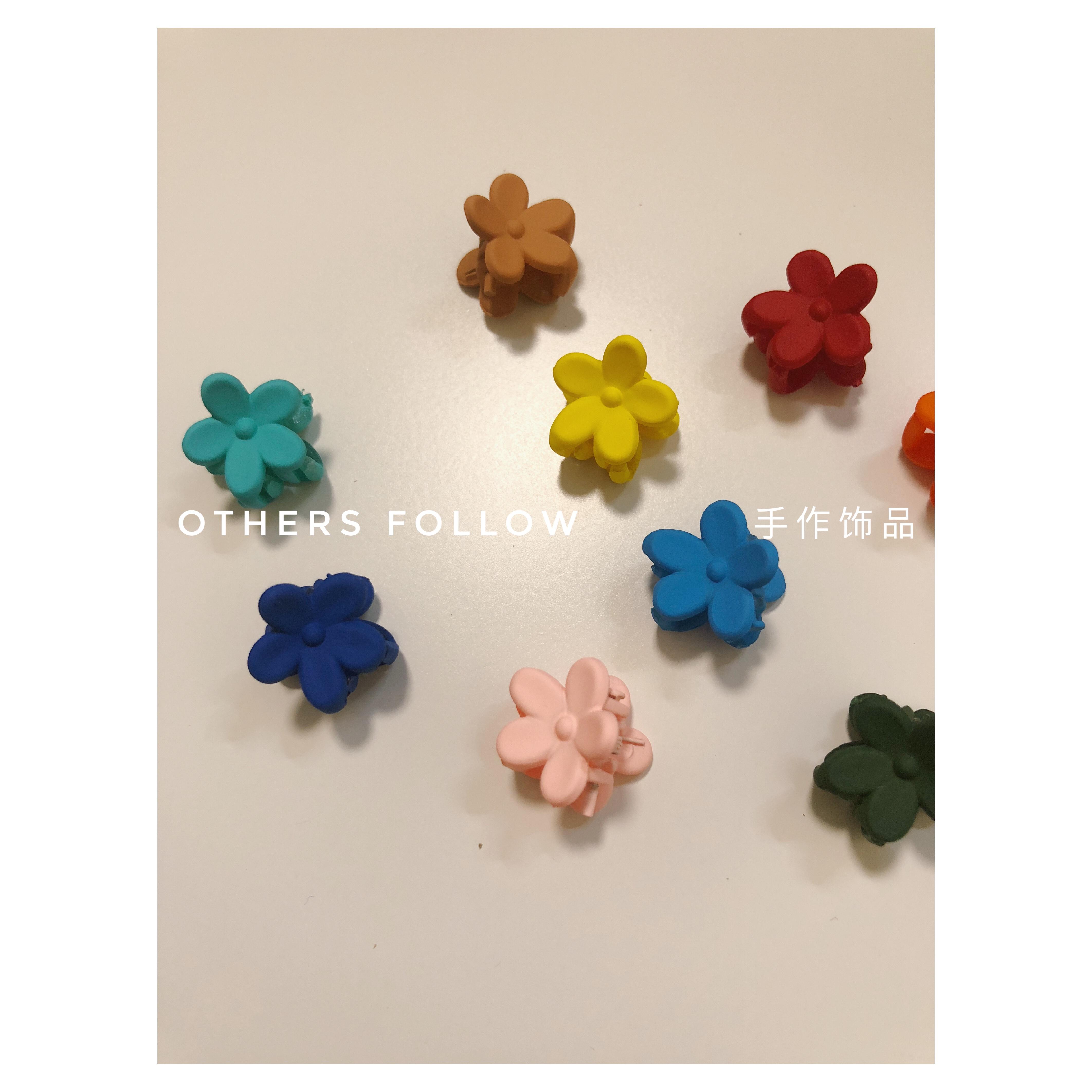 【follow】泫雅小花娜娜同款彩色抓夹10-16新券