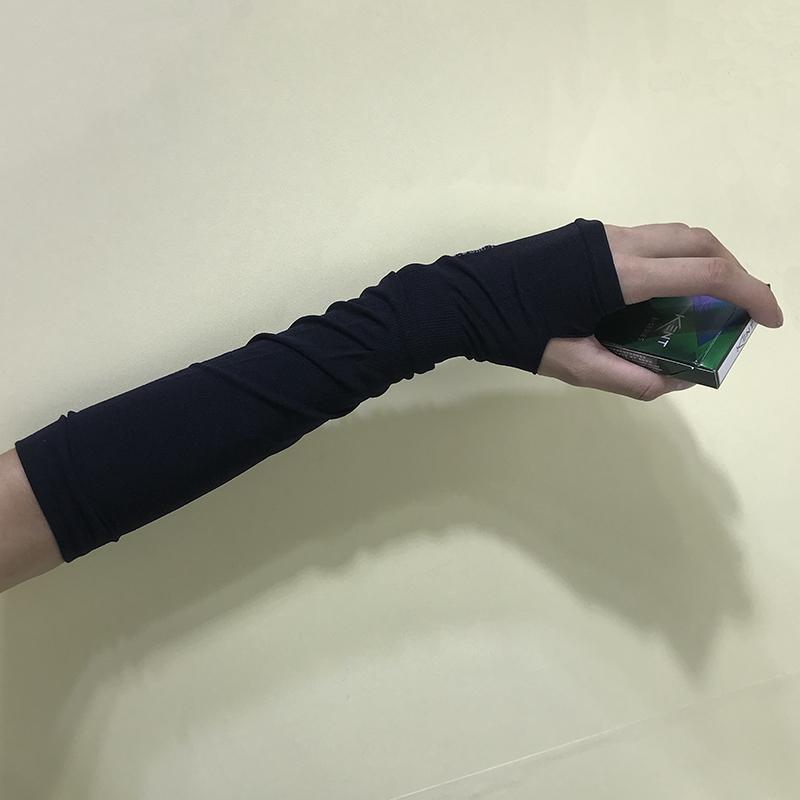 韩国ins原宿风暗黑系街头复古忍者穿指手套冰丝百搭防晒袖套男女11.80元包邮