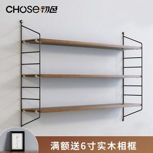 铁艺墙上置物架免打孔客厅电视墙面装饰隔板壁挂卧室墙壁挂墙书架图片