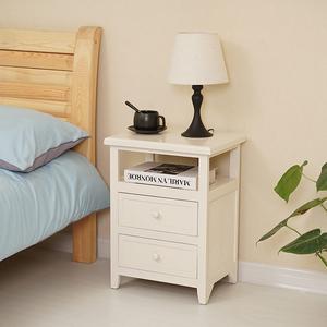 北欧整装小户型木质床头柜白色家用40cm卧室床边柜收纳柜创意窄柜