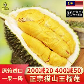 猫山王马来西亚进口液氮冷冻榴莲