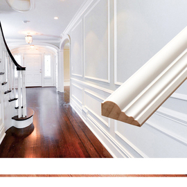 树歌实木线条欧式客厅电视背景墙边框造型装饰木线条白色压边条