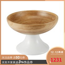 US-American Home rehome tung wood tray Fruit basket Fiberglass Home decoration