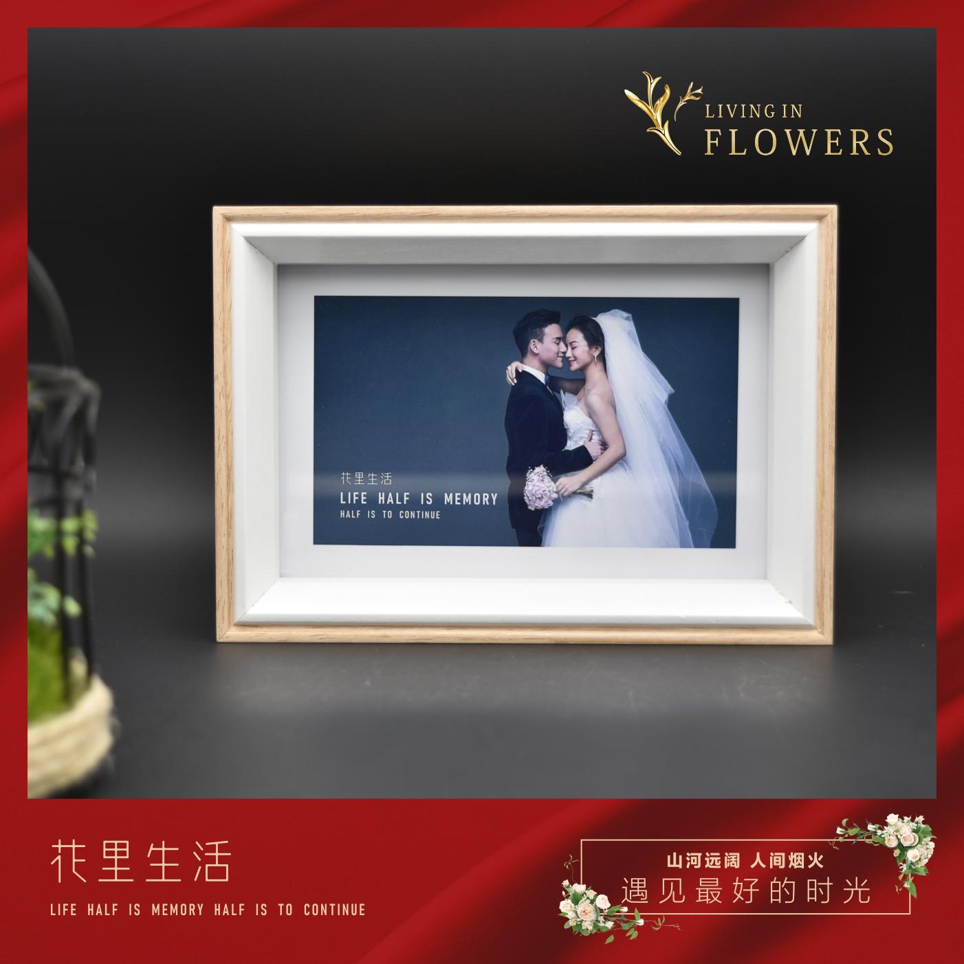 北欧insシンプルなアイデアは、フレームを並べて6インチの結婚式の卒業式の写真を登録し、結婚式の写真をプレゼントします。