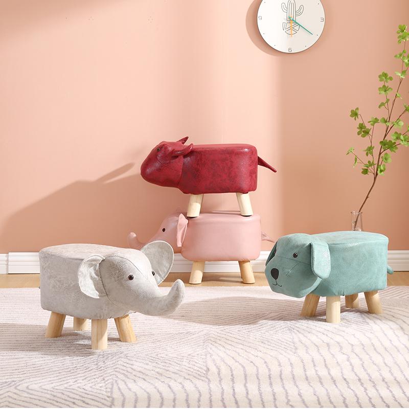 小凳子家用创意卡通大象动物凳客厅门口换鞋板凳儿童网红矮凳坐凳