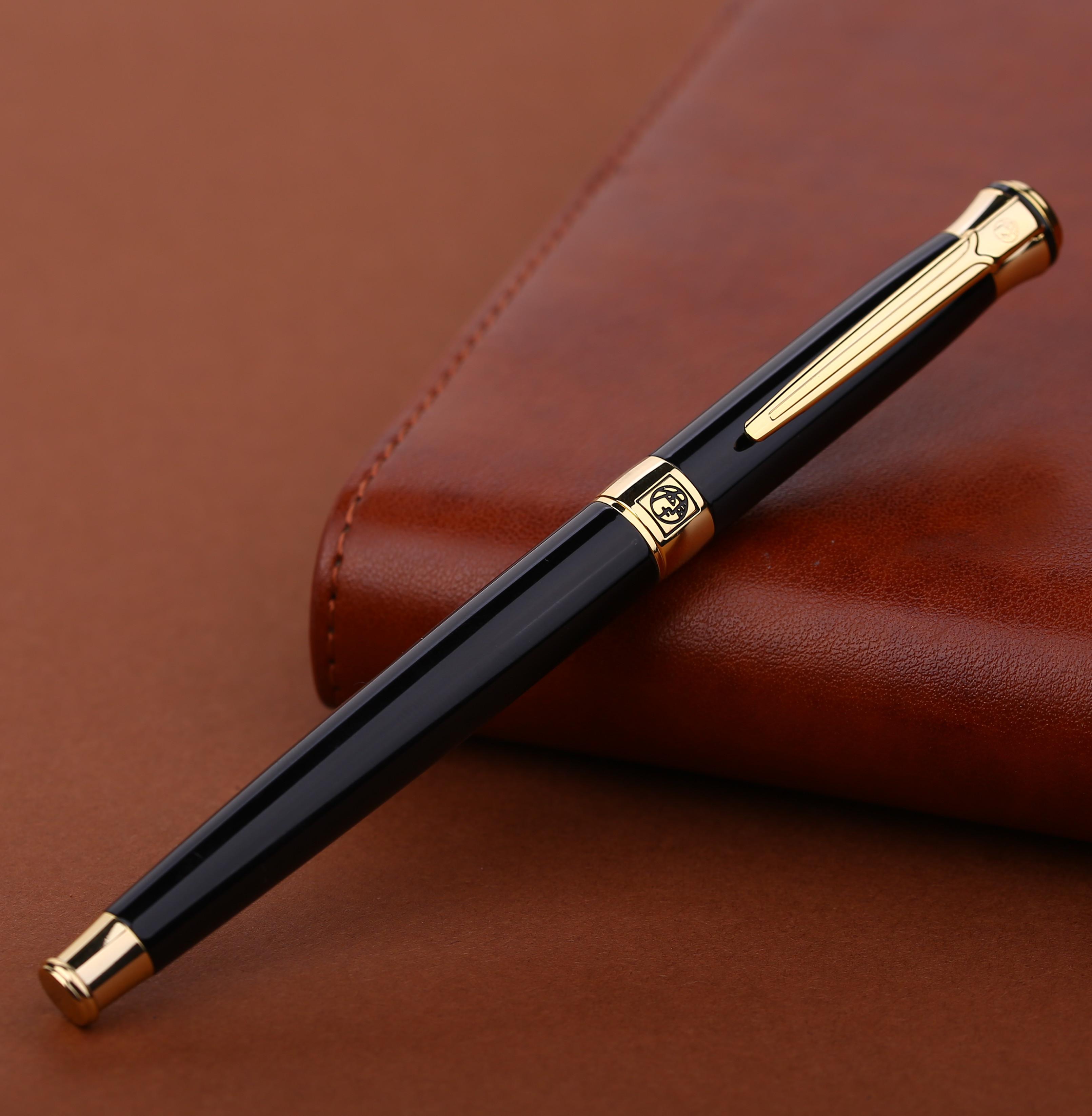 畢加索簽字筆 903金屬寶珠筆男女士商務送禮簽名中性水筆 刻字