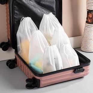 便携防水旅行收纳袋衣服整理分装包内衣物旅游抽绳束口小袋子布袋图片