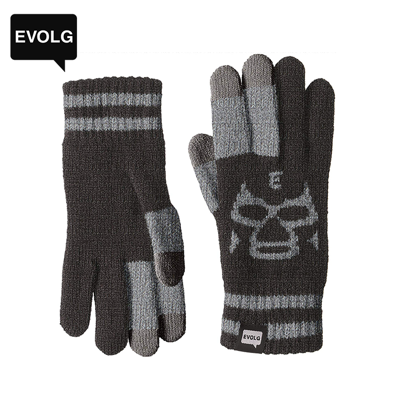 Evolg Japan imported winter touch screen gloves warm wool knitted gloves cold leisure mask ed series
