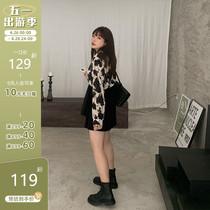 大面菁2021早春衬衫女设计感小众花衬衣雪纺上衣大码女装微胖mm