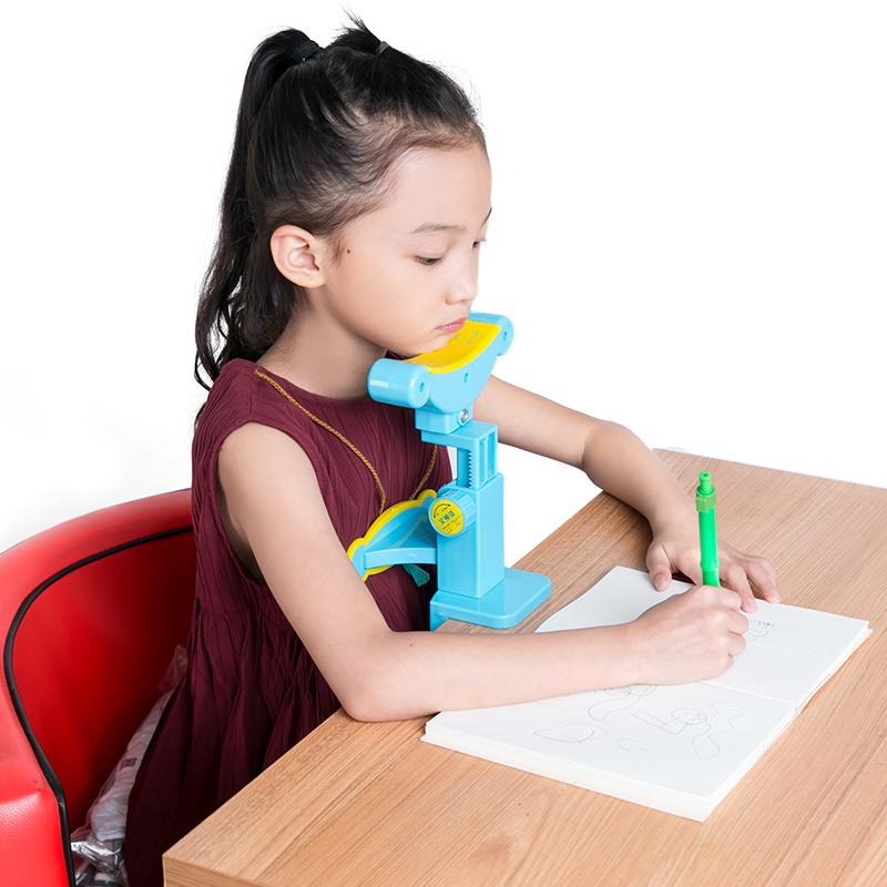 儿童视力保护器小学生用防近视坐姿矫正器纠正写字姿势仪架预防近视护眼矫正小孩低头提醒器正姿书写课桌神架