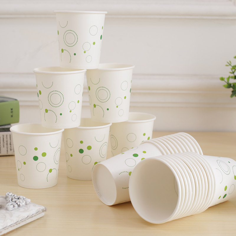 Paper cup disposable paper cup set to make thick paper cup 400 household business office tea cups 210ml