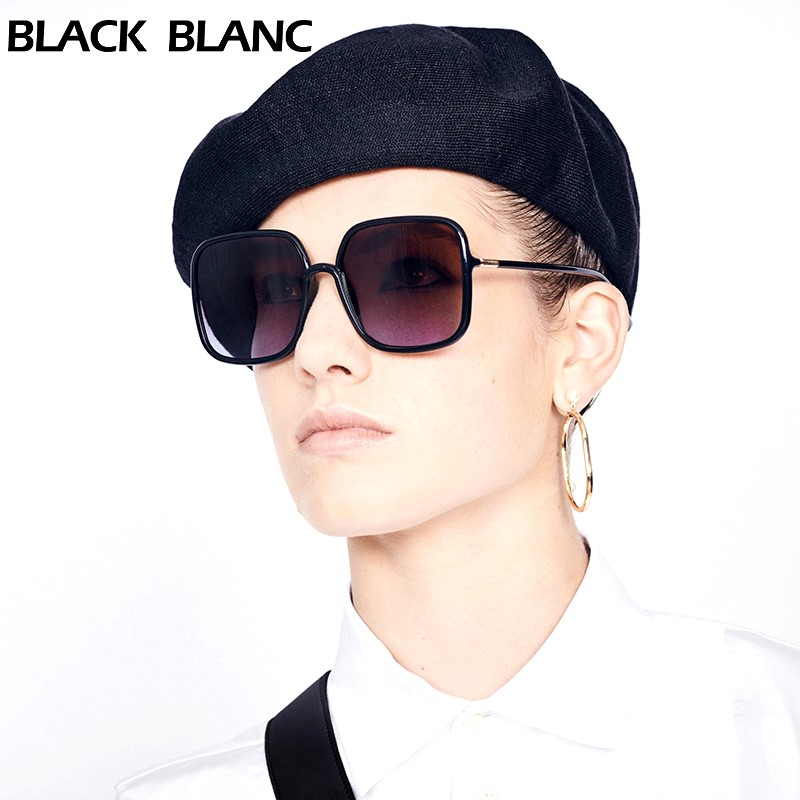 Ultra light large frame square rectangle face showing thin mens and womens polarizing anti blue light discoloration dual purpose sunglasses and sunglasses