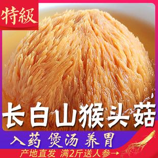 猴头菇干货新东北野生可打养胃粉纯特级 500g 一级长白山猴头菇