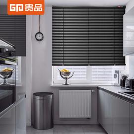 贵品免打孔加厚黑色百叶窗帘卷帘遮光防水办公卫生间浴室厨房家用图片