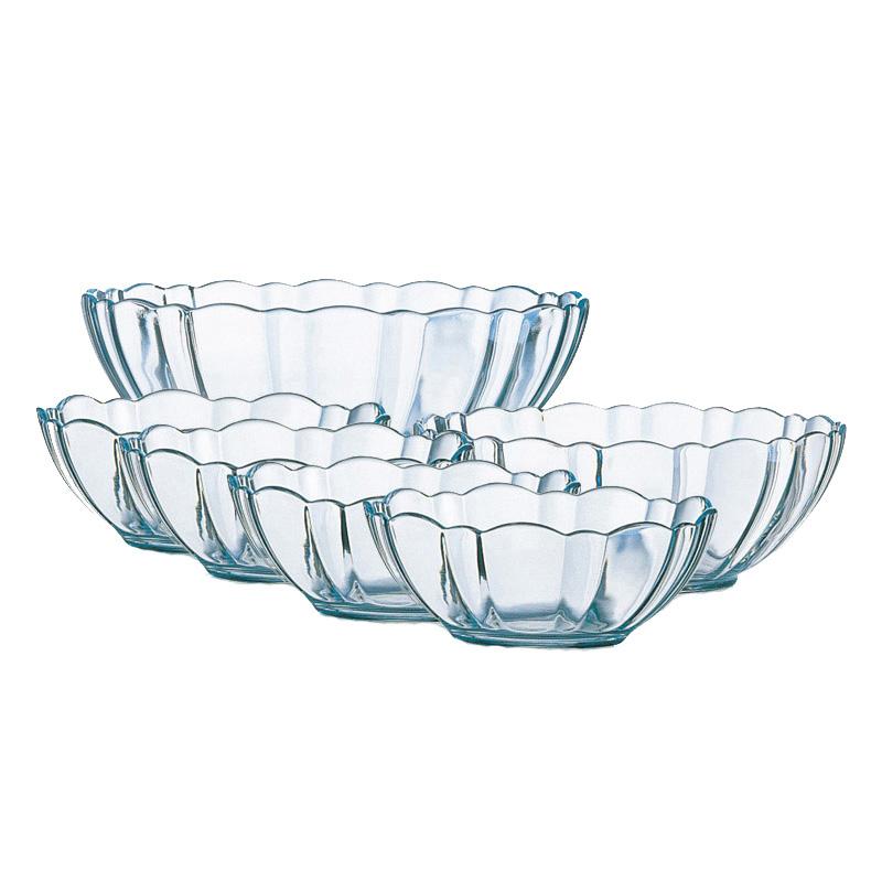 乐美雅透明钢化玻璃碗微波炉饭碗面碗汤碗沙拉水果碗调料甜品套装