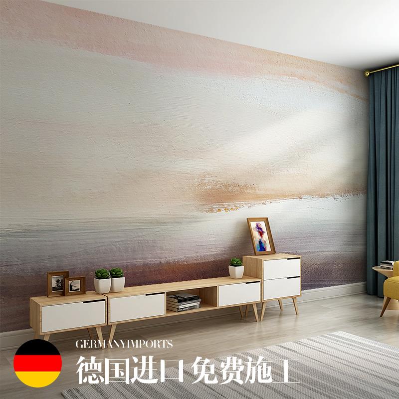 北欧个性涂鸦抽象复古油画客厅电视背景墙纸无缝沙发壁纸壁画墙布