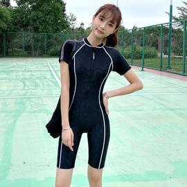专业游泳衣女保守连体温泉平角2020新款遮肚显瘦大码学生训练运动