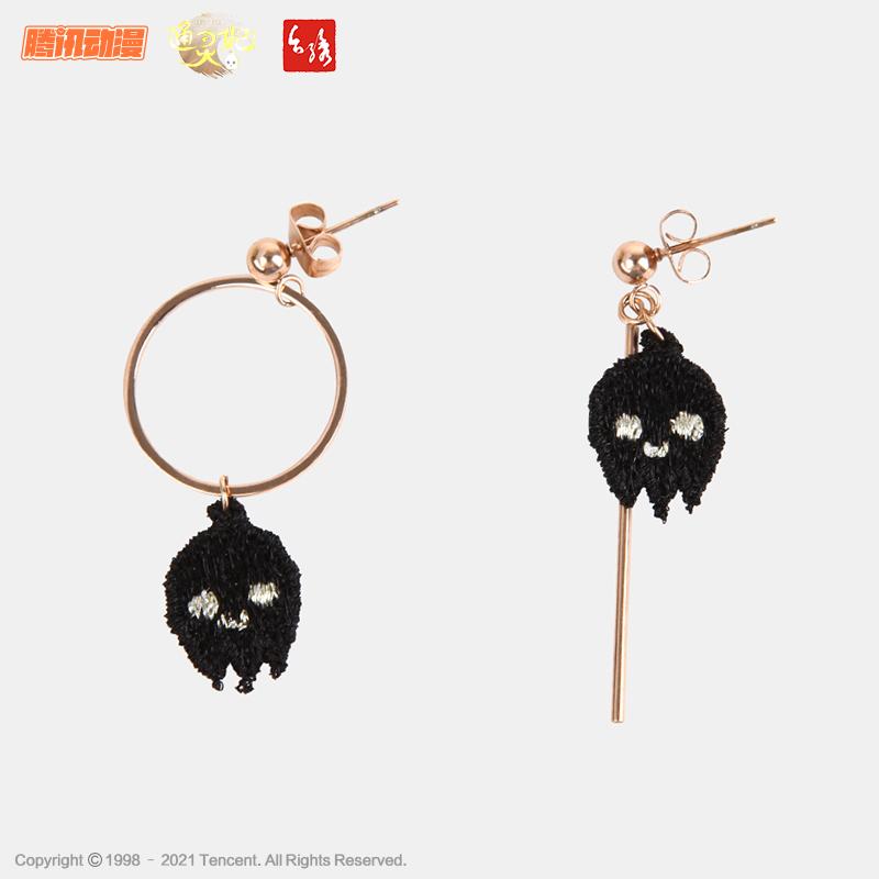 Taiwan embroidery & Tongling imperial concubine co branded glutinous rice Earrings asymmetric design cute super cute small fresh earrings earrings earrings