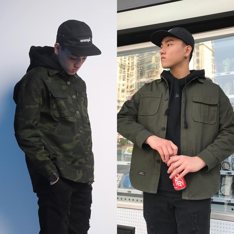 现货 AIRWAY 2018 SS CAMO SHIRT 迷彩军绿双色工装衬衫
