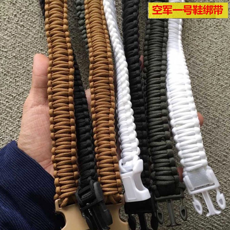 Air force No.1 high top shoes roll Strap Black White Khaki lace accessories AF1 shoes tower buckle mens shoes band