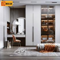 全屋家具定制衣柜整体一门到顶定制衣柜轻奢玻璃衣帽间榻榻米定制