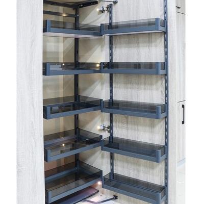 厨房大怪物连动高柜拉篮橱柜航空铝玻璃多功能储物高深拉篮零食柜