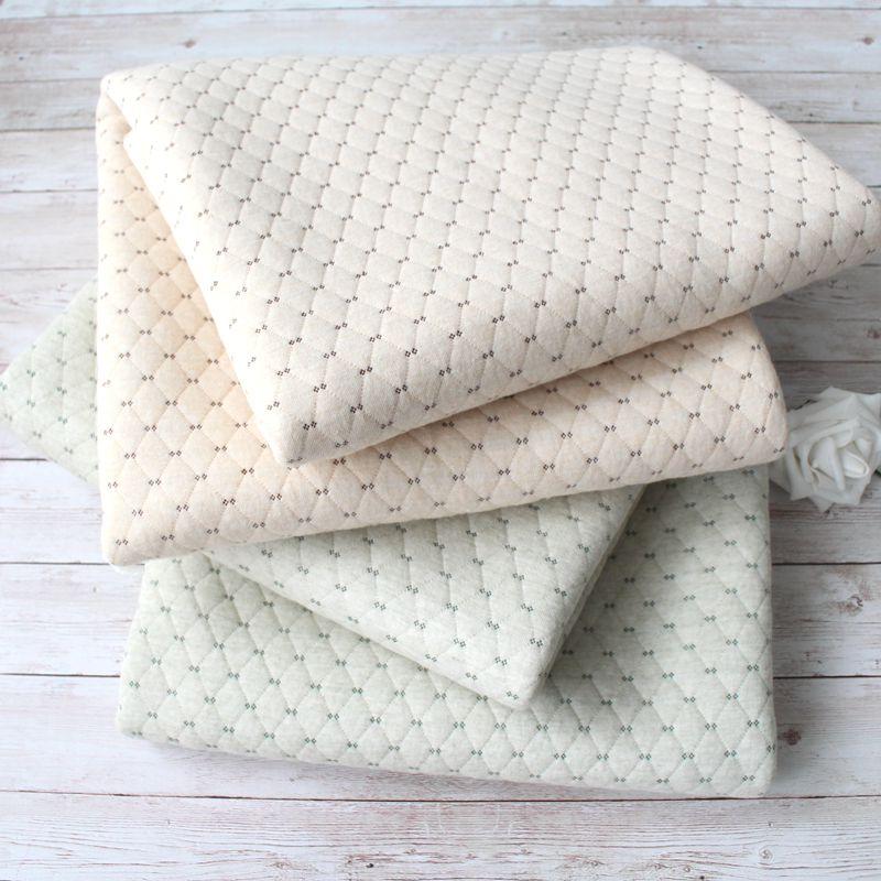 彩棉夹棉保暖布料 有机棉纯棉空气层内衣卫衣面料 宝宝婴幼儿棉布