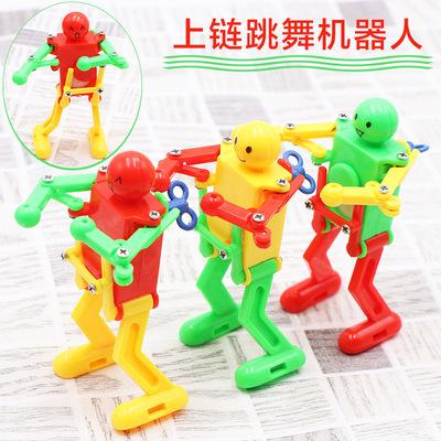 Dancing robot creative wind-up swing mini stickman clockwork toy children's stall night market wholesale