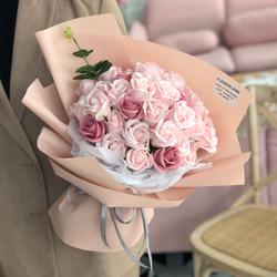 玫瑰花束生日送女朋友康乃馨仿真假花香皂花肥皂花礼盒情人节礼物