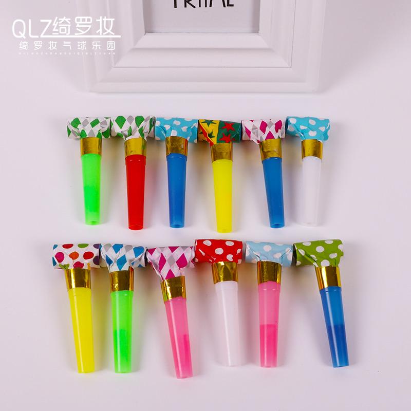 纸吹龙吹吹卷儿童幼儿园助兴回礼玩具口哨子生日派对喇叭助威道具