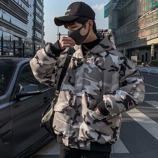 加拿大鹅羽绒服男2018新款韩版潮牌学生蒙口韩国军工装冬ins外套