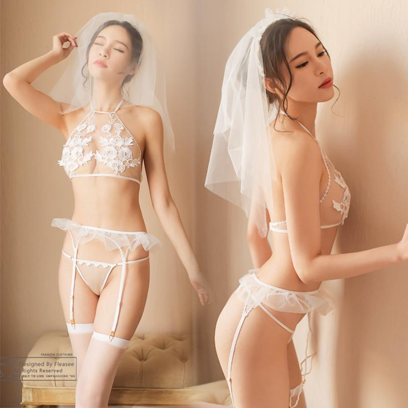 女性感情趣内衣服小胸制服激情套装sm血滴子夫妻性用品透视新娘装