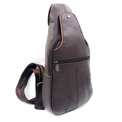 Special price new head leather practical mens bag cow leather retro simple mens chest bag sports leisure real leather bag