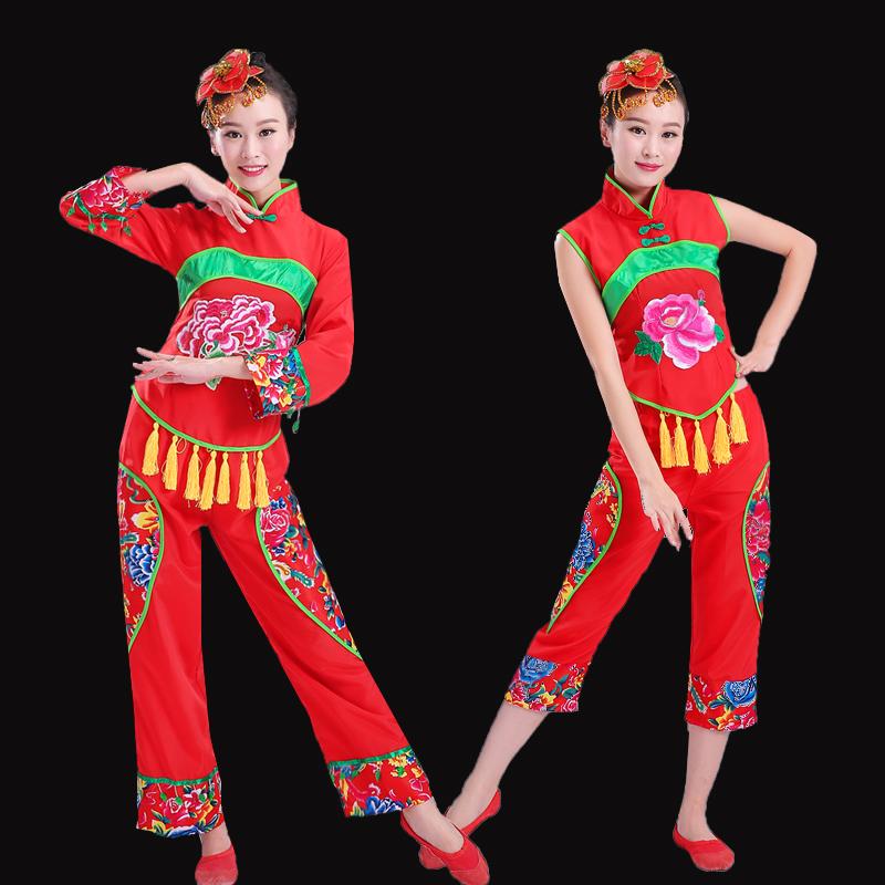 Классическая новый саженец песня одежда танец производительность женская одежда ударные веер танец кадриль народ производительность одежда в пожилых