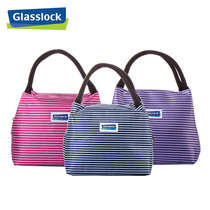 Glasslock Waterproof Insulation bag bag portable lunch box bag bento bag male and female hand bag handbag portable bag