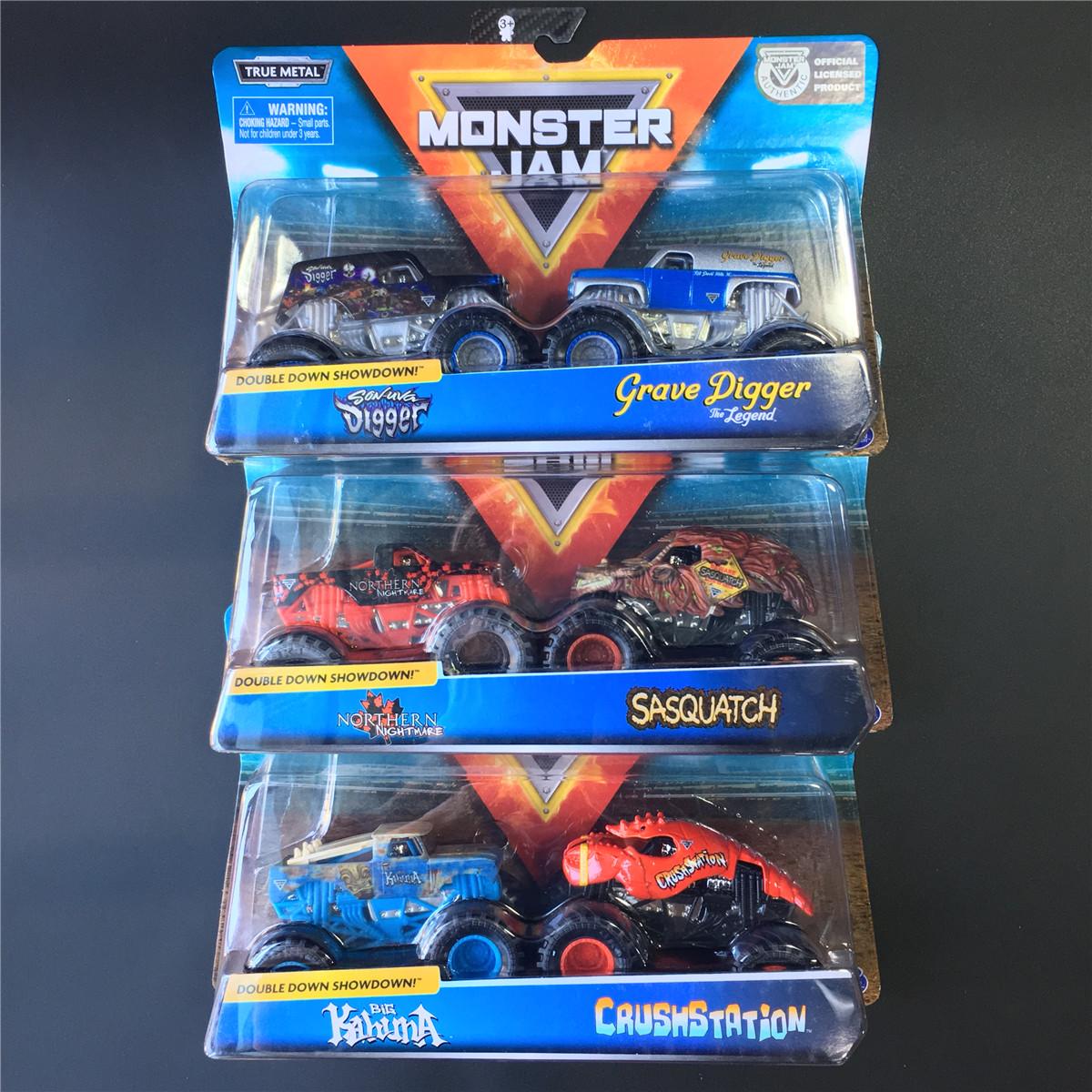 MONSTER JAM斯平玛斯特怪兽大脚车两辆装 合金越野卡车模型玩具